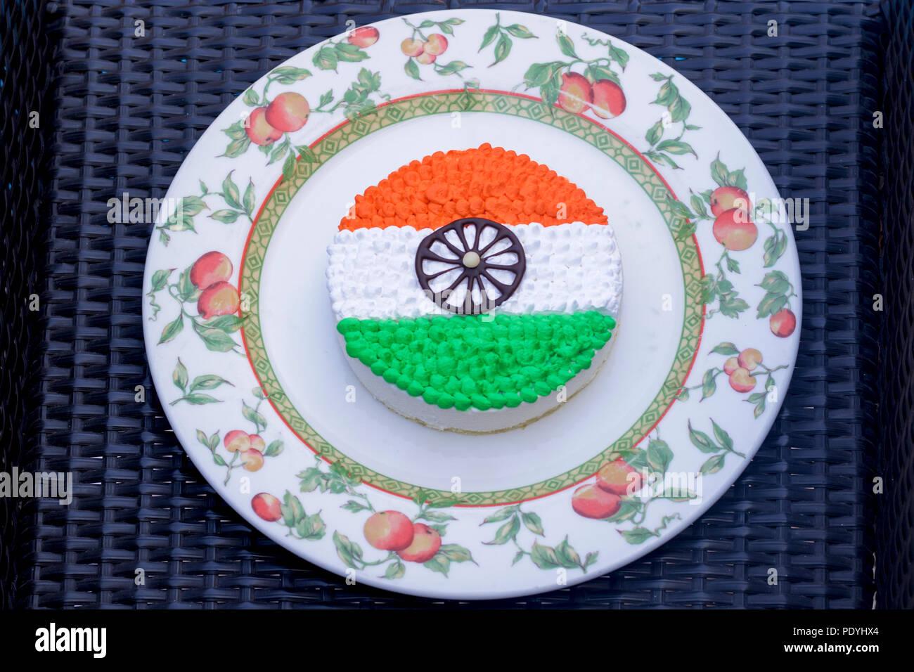 Tri color pastel - - especial del día de la independencia el 15 de agosto Imagen De Stock