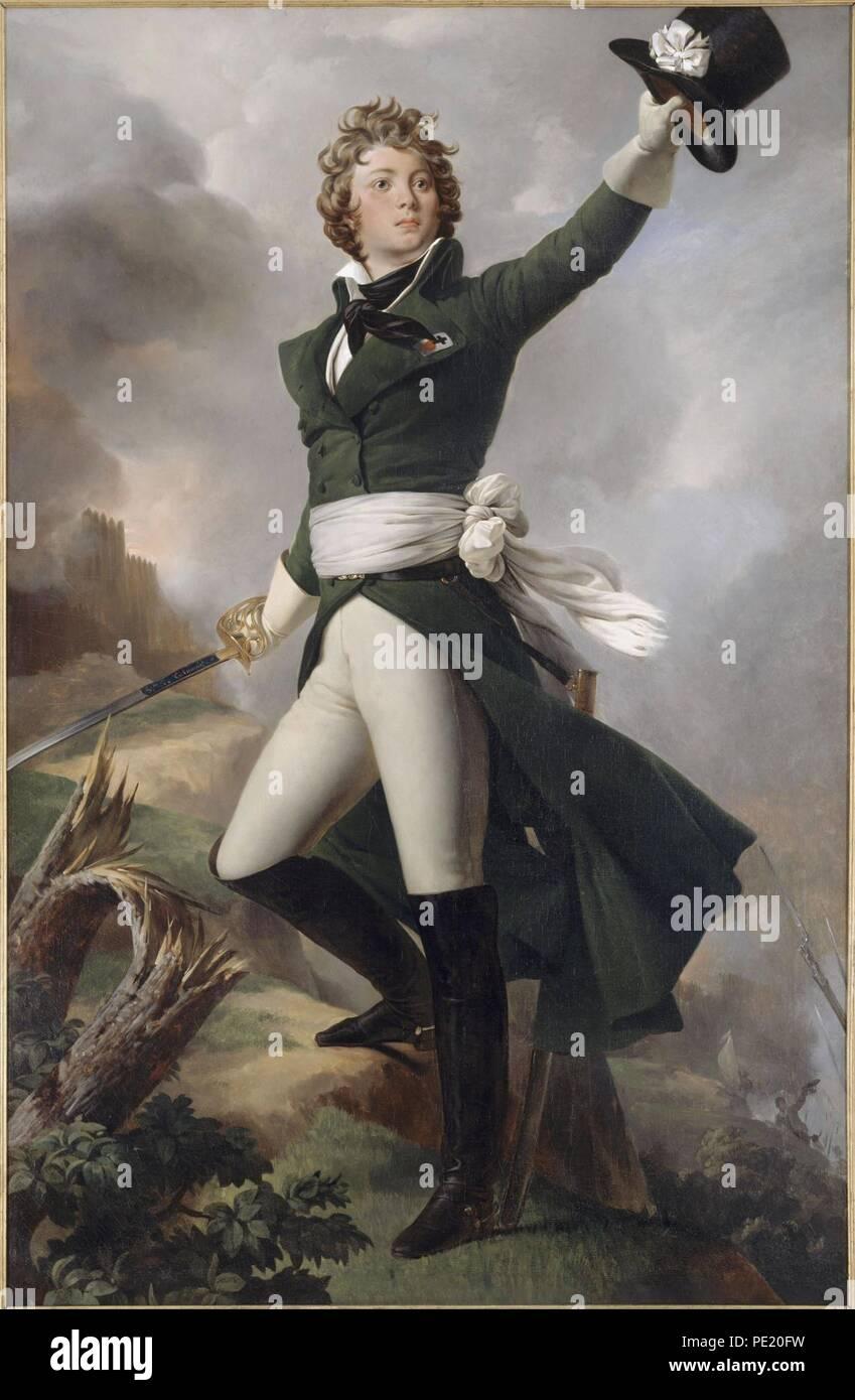 Antoine Philippe de La Trémoille, Príncipe de Talmont por Léon Cogniet (Musée d'art et d'histoire de Cholet). Foto de stock