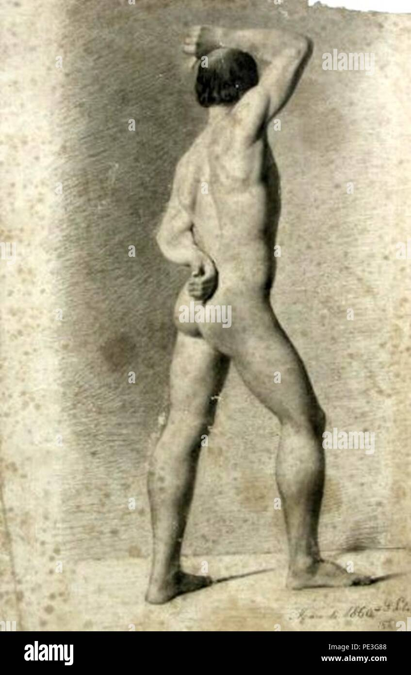 Antônio de Sousa Lobo - Nu masculino de costas. Imagen De Stock