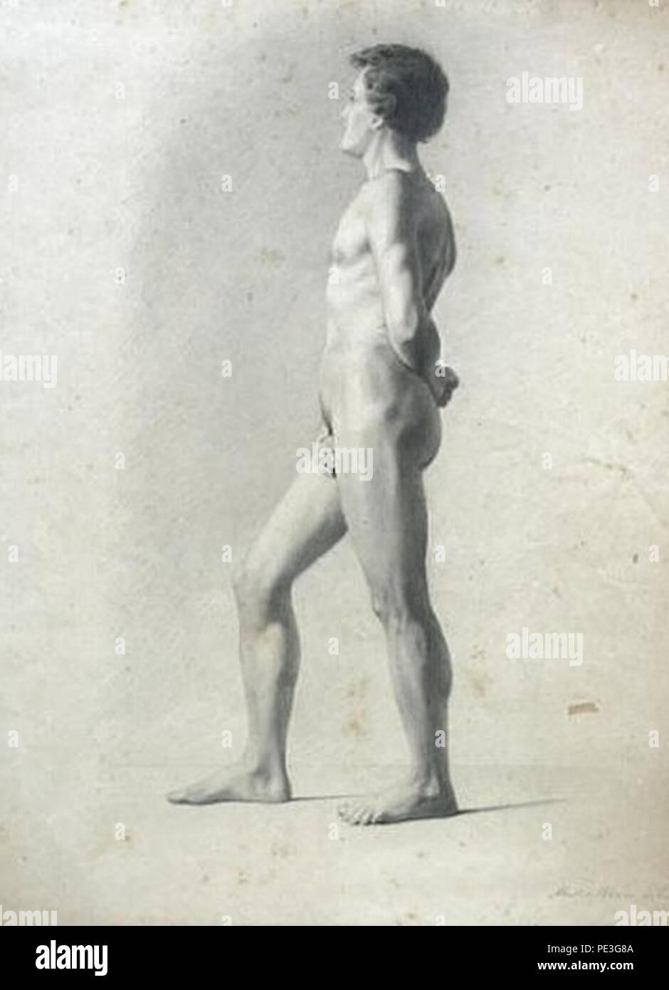 Antônio de Sousa Lobo - Nu masculino de lado. Imagen De Stock
