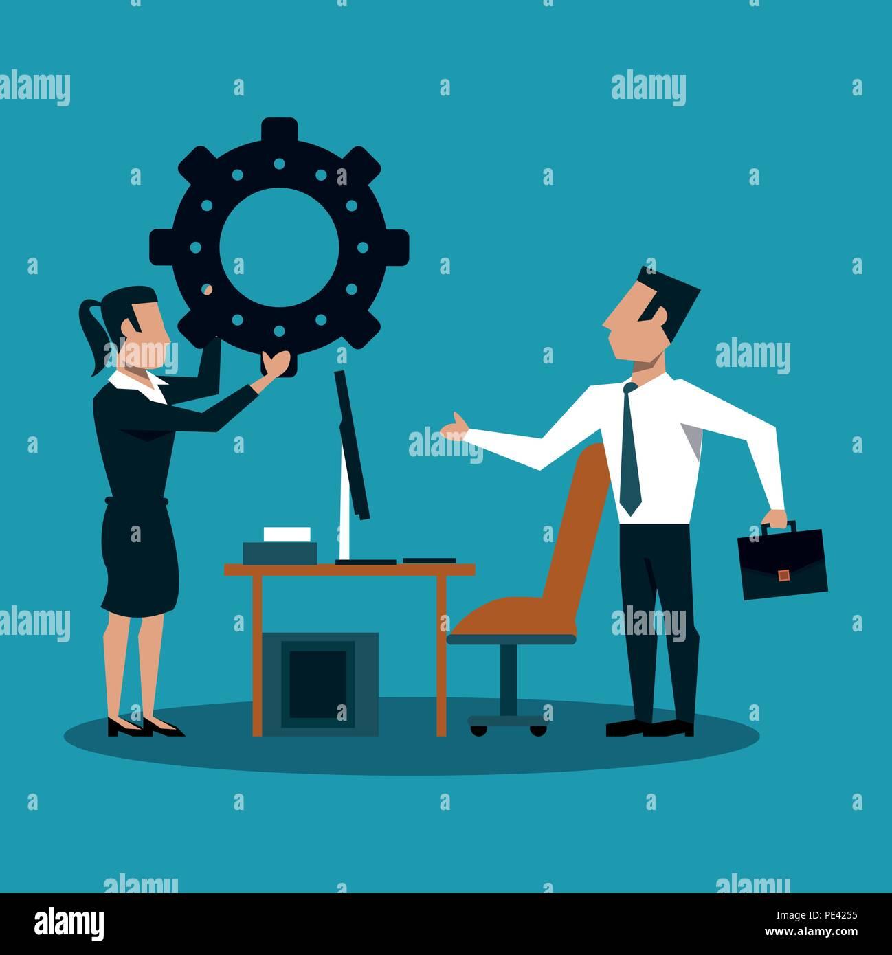 Concepto de trabajo en equipo de negocios Imagen De Stock