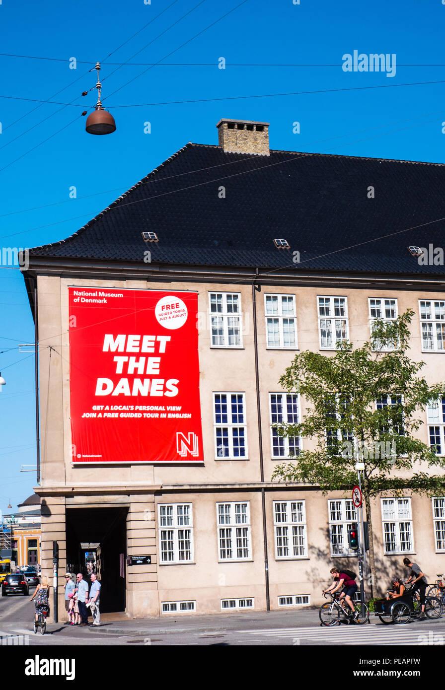 Los ciclistas fuera, cumplen los daneses Exercitation, Museo Nacional de Dinamarca, Copenhague, Zelanda, Dinamarca, Europa. Foto de stock