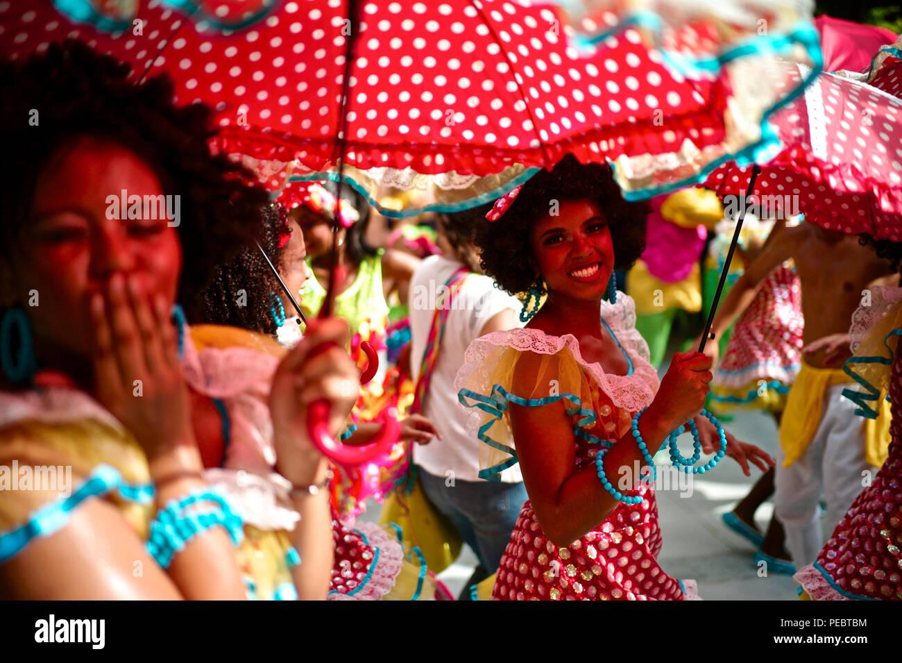 Carnaval de Barranquilla Puloy Negitas Foto de stock