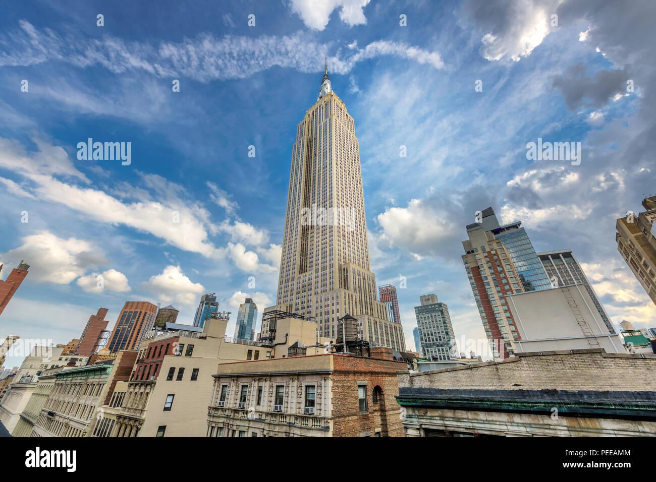 El Empire State Building, en Manhattan, Nueva York Imagen De Stock