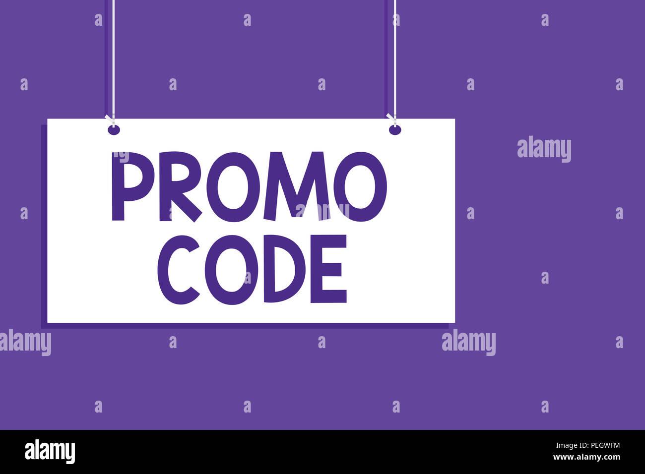 Escritura A Mano Conceptual Mostrando El Código Promocional Foto De
