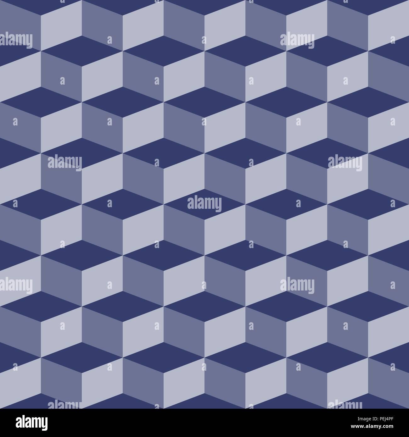 Resumen Bloques patrón perfecta ilusión visual Imagen De Stock