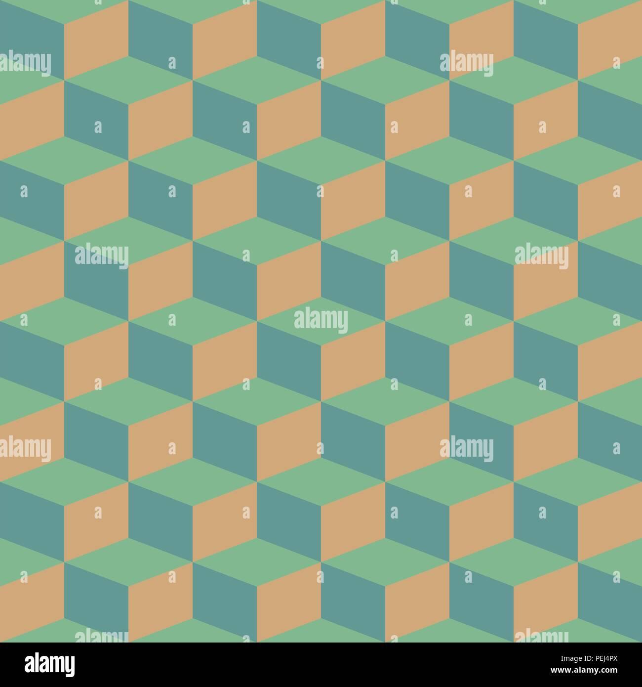 Bloques abstractos ilusión visual perfecta patrón retro contraste Imagen De Stock