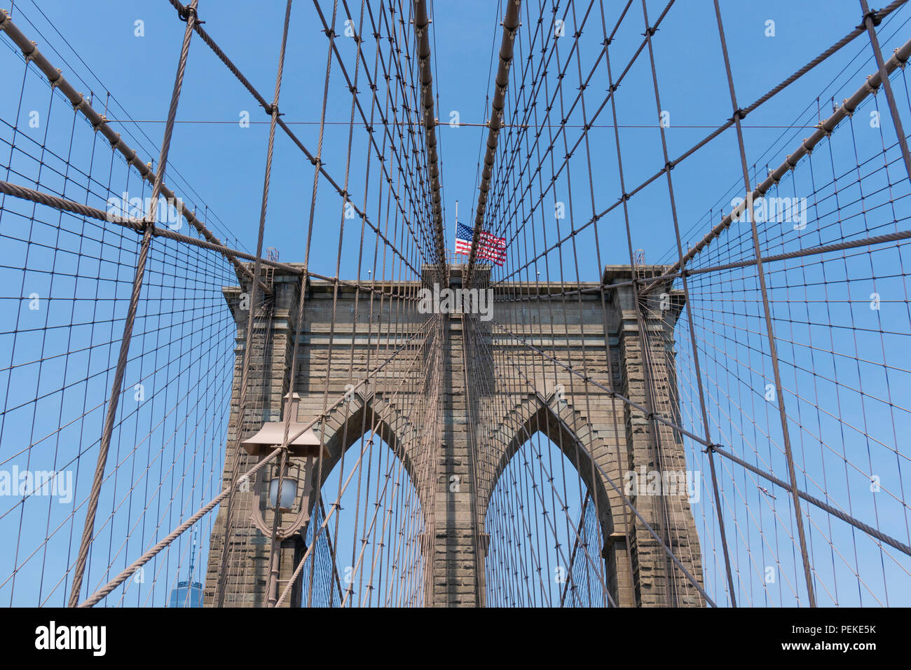 Puente de Brooklyn en Nueva York Imagen De Stock