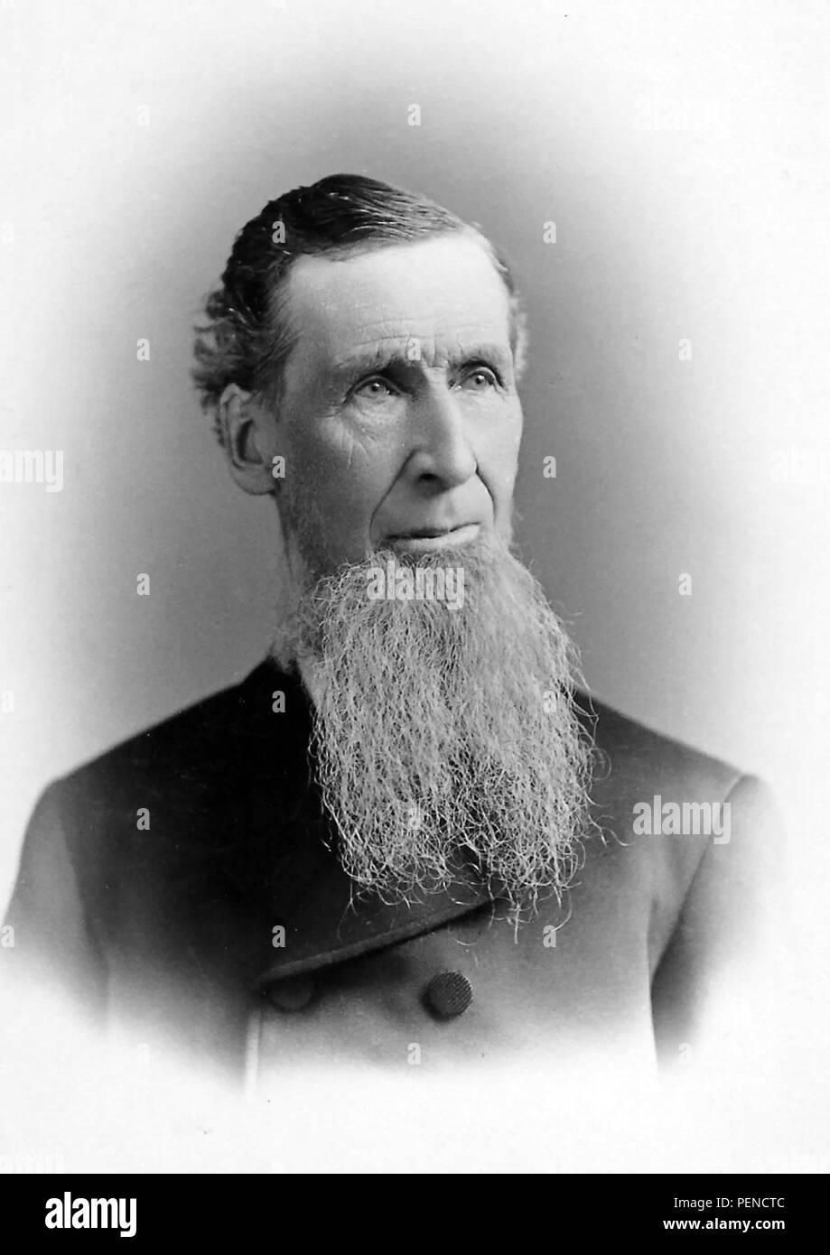 BEARED hombre de finales del siglo XIX. Imagen De Stock