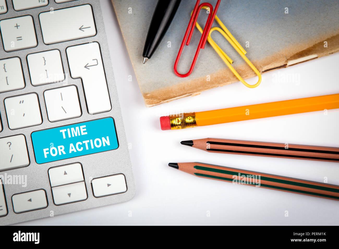 Tiempo para la acción, el concepto de marketing Imagen De Stock