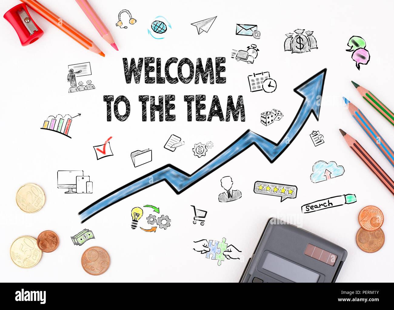 Bienvenido al equipo. Imagen De Stock