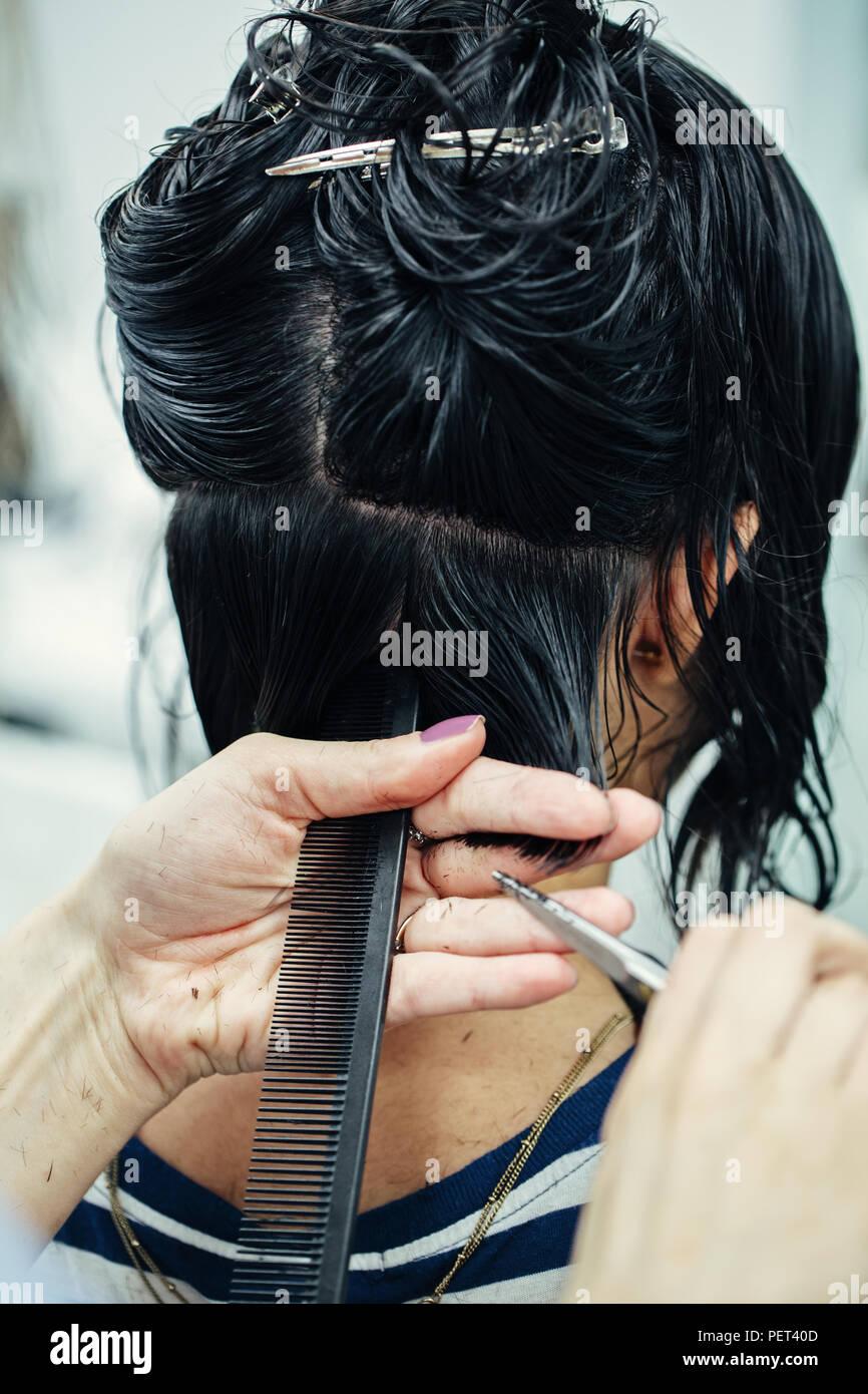 Corte de cabello a tijera