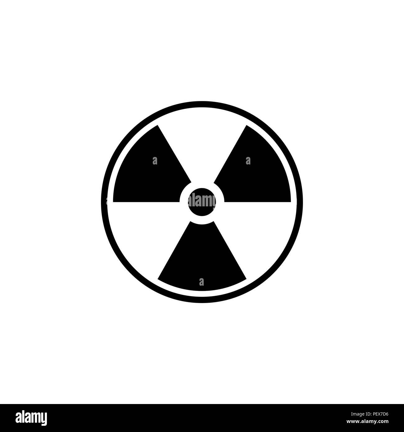 24596980ce Icono de radiación plana. ilustración vectorial negro sobre fondo blanco.  Imagen De Stock