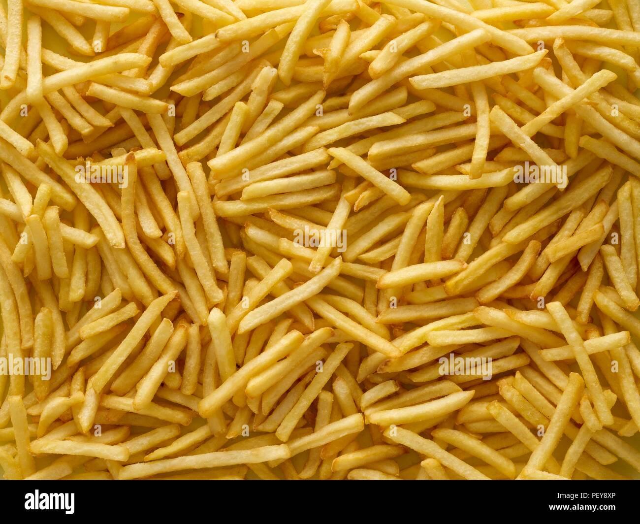 Las papas fritas, full frame. Imagen De Stock