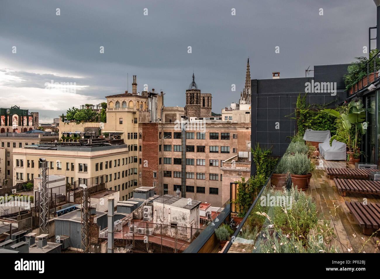 Barcelona Cataluña España 17 Aug 2018 Una Vista Inusual
