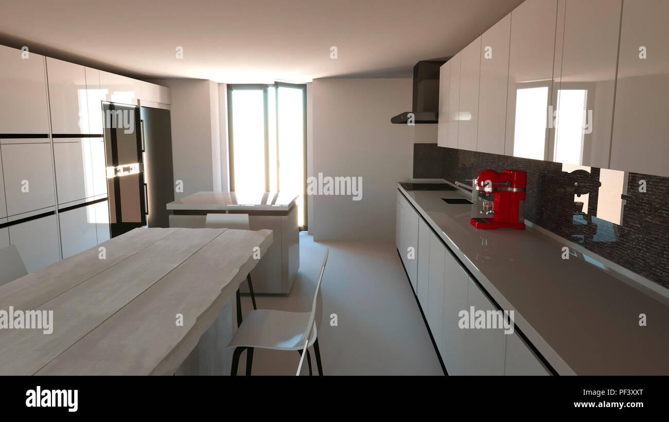 Muebles de cocina, diseño de interiores. Muebles y electrodomésticos ...