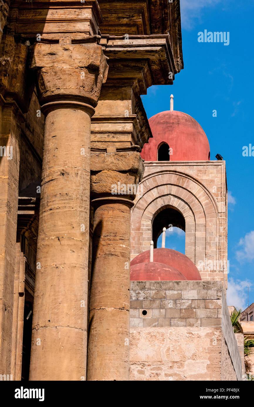 Italia, Sicilia, Palermo, San Giovanni Degli Eremiti exterior Imagen De Stock