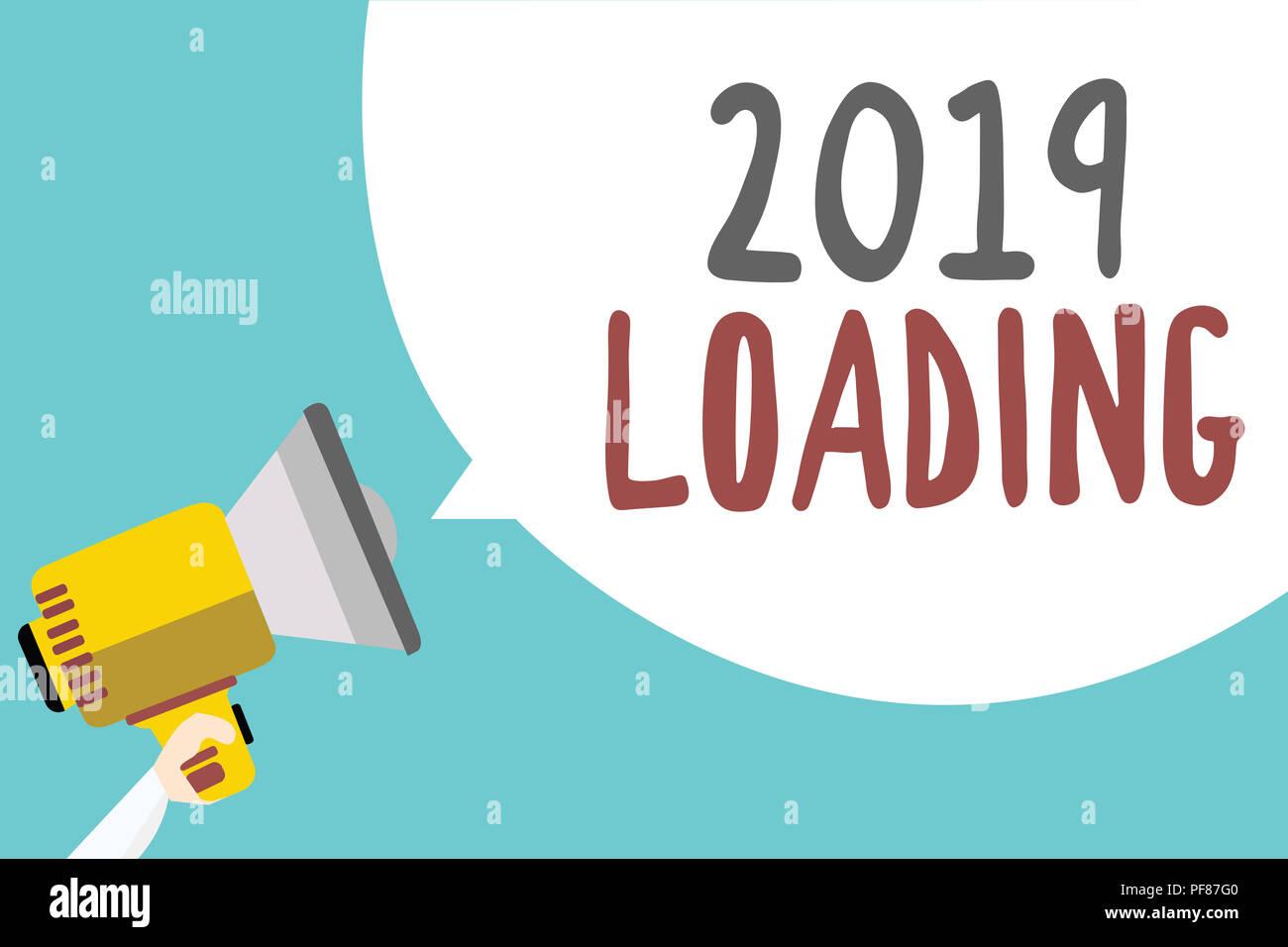 Escritura A Mano Conceptual Mostrando 2019 Loading Foto De Negocios