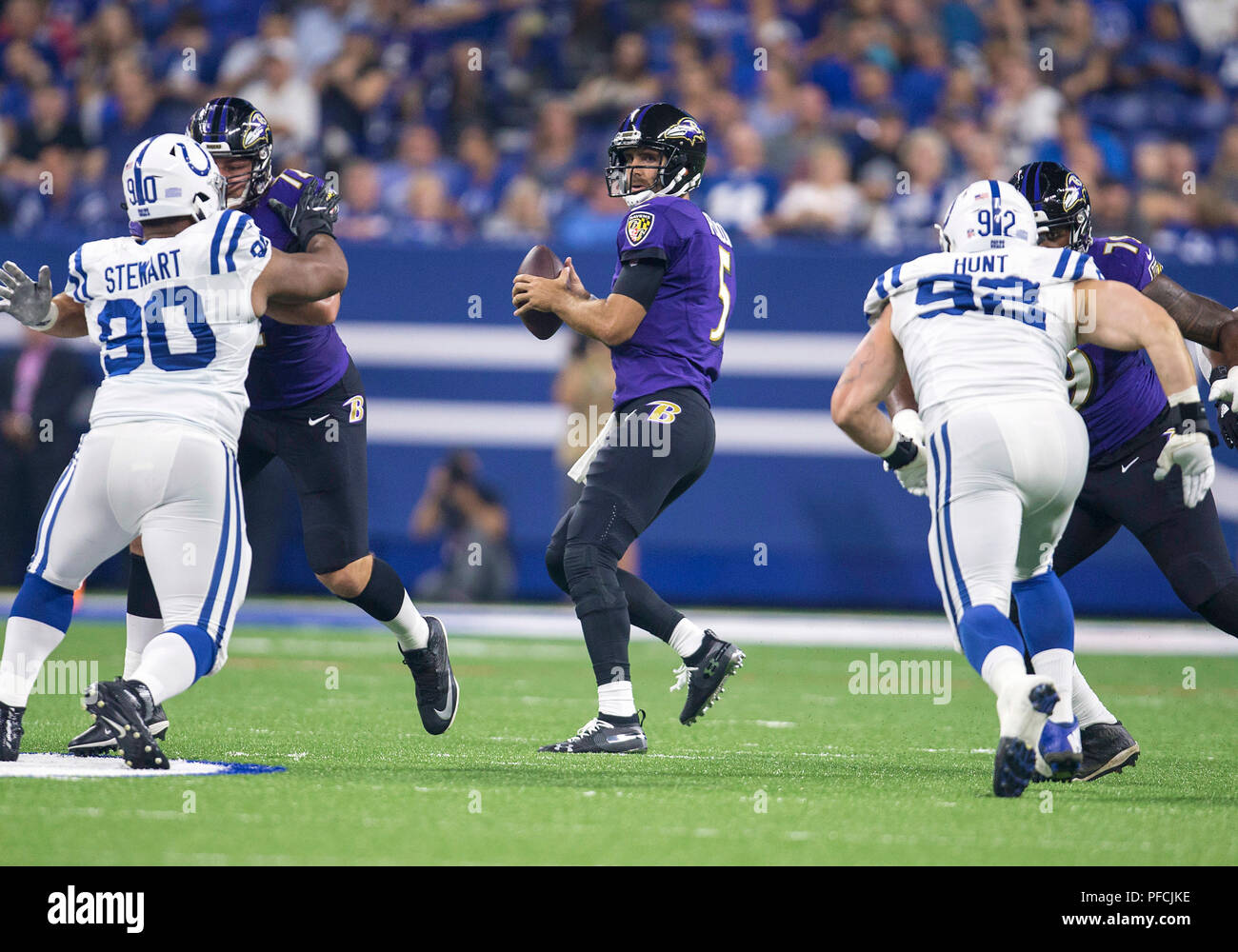 Agosto 20 2018 Baltimore Ravens Quarterback Joe Flacco 5 Pasa La