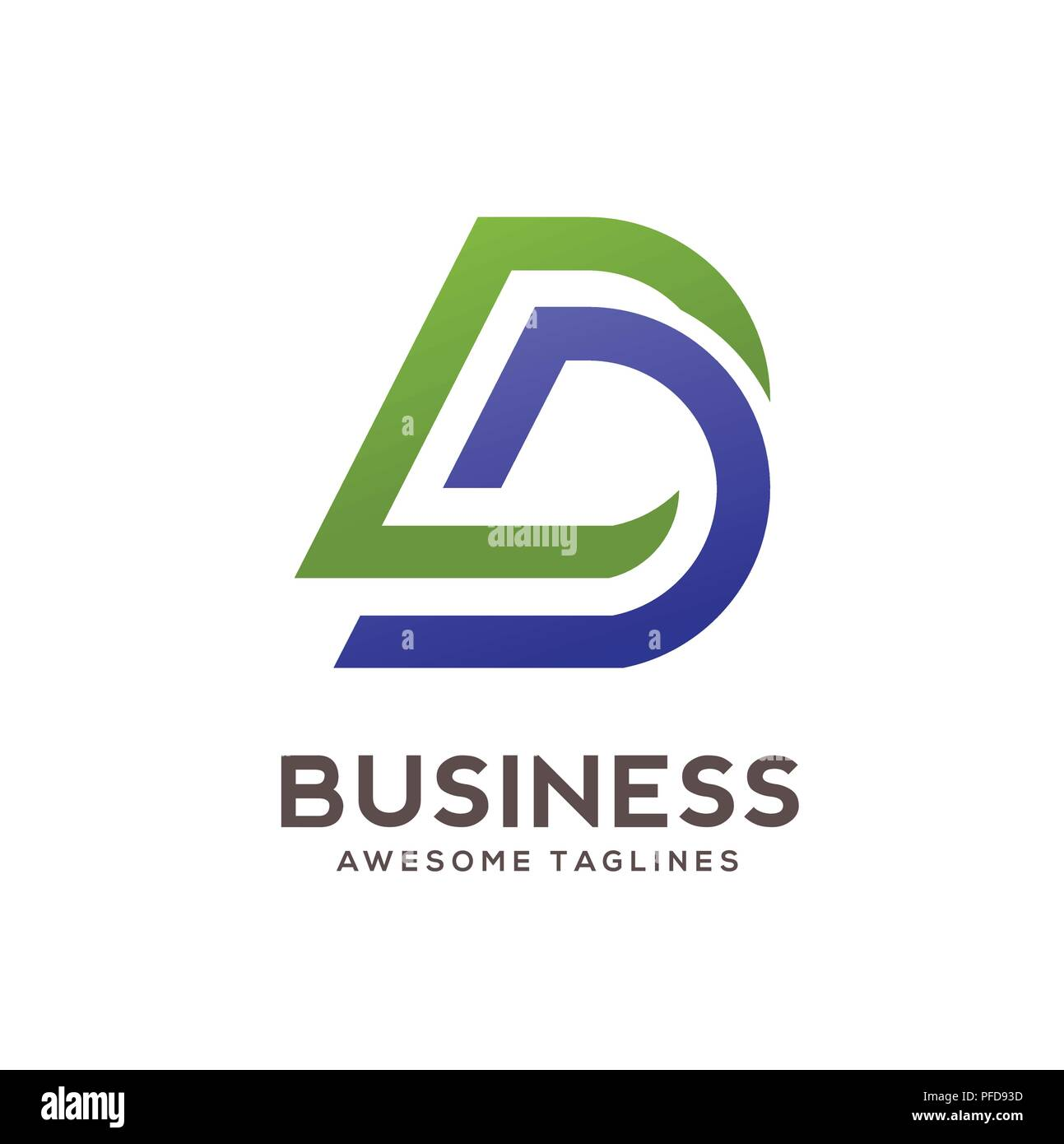 DD carta logo design ilustración vector plantilla,D carta vector logo, letra D y D, vector logo carta creativa DD carta logo Ilustración del Vector