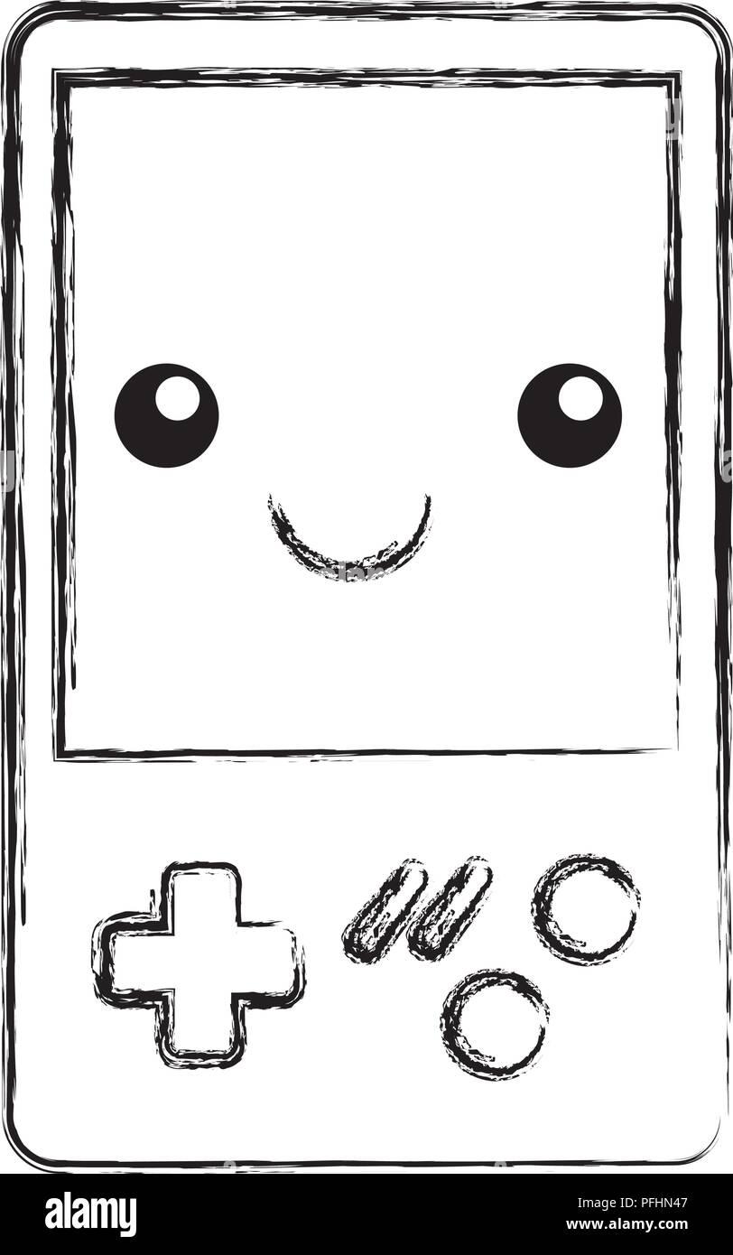 Kawaii Consola De Video Juego Cartoon Ilustración Vectorial