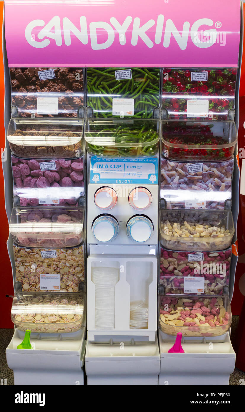 Selección Candyking n Stand Mix Imagen De Stock