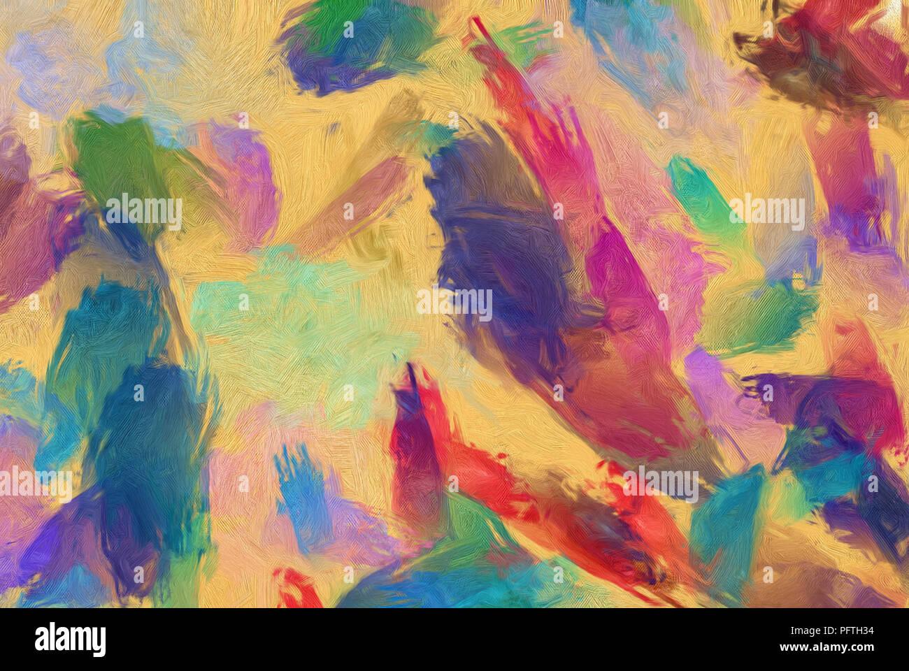 Fondo De Arte Abstracto. Suaves Pinceladas De Pintura