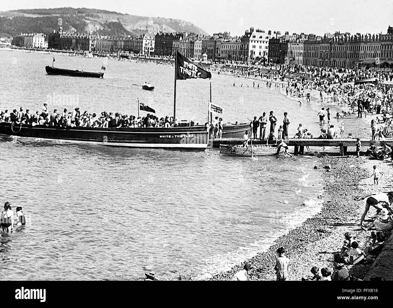 Viaje alrededor de la bahía, Llandudno, 1900 Imagen De Stock