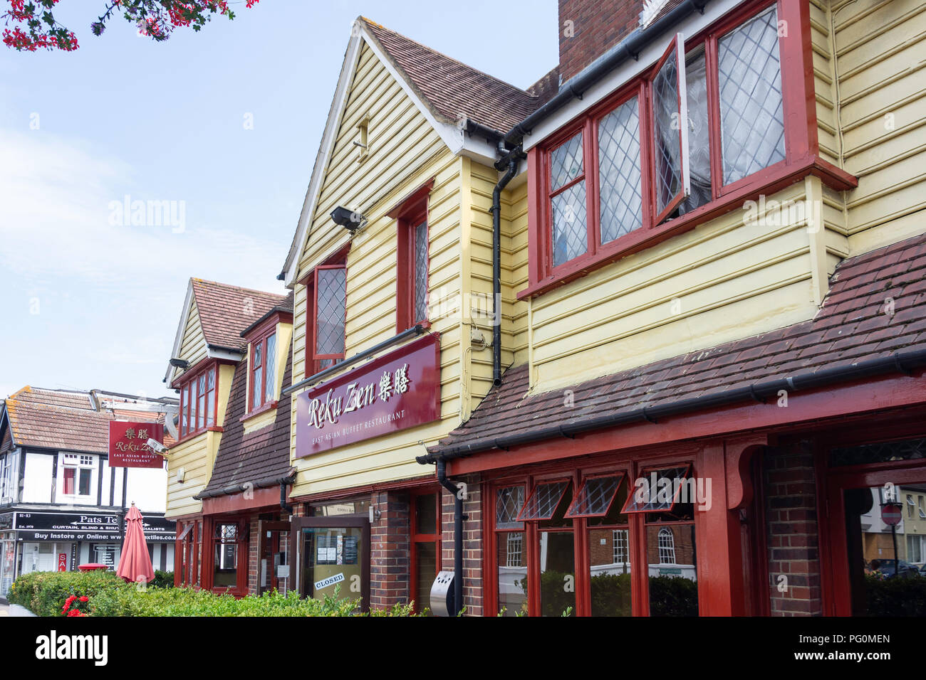Asia Oriental Zen Reku, restaurante buffet, High Street, Orpington, London Borough of Bromley, Greater London, England, Reino Unido Imagen De Stock