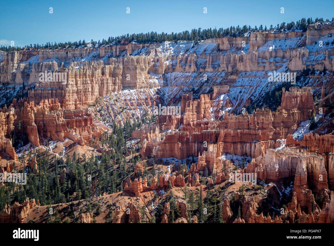 Rocas Rojas Hoodoos en Bryce Point en Bryce Canyon National Park, Utah Foto de stock