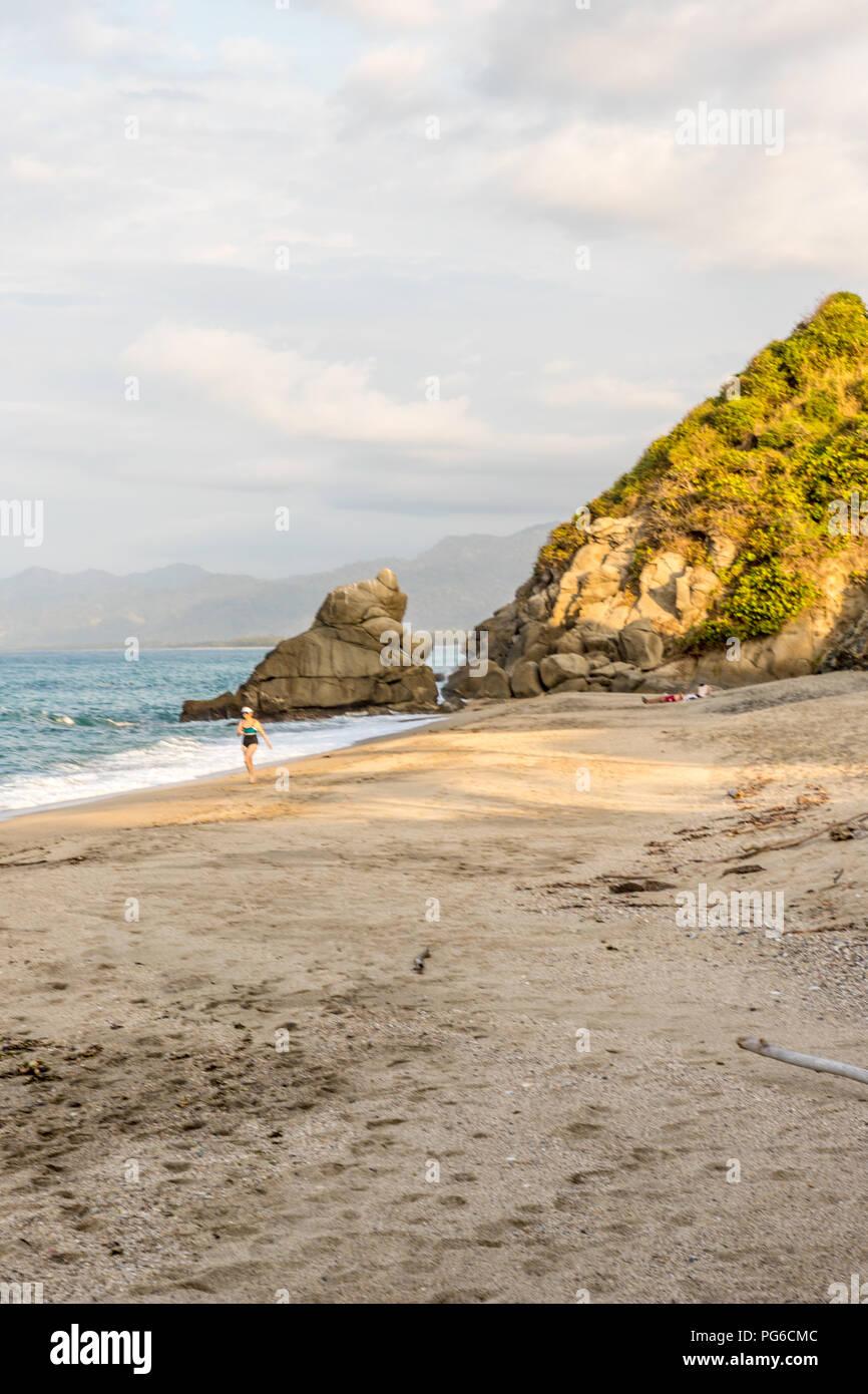 Una vista típica de Santa Marta en Colombia. Imagen De Stock