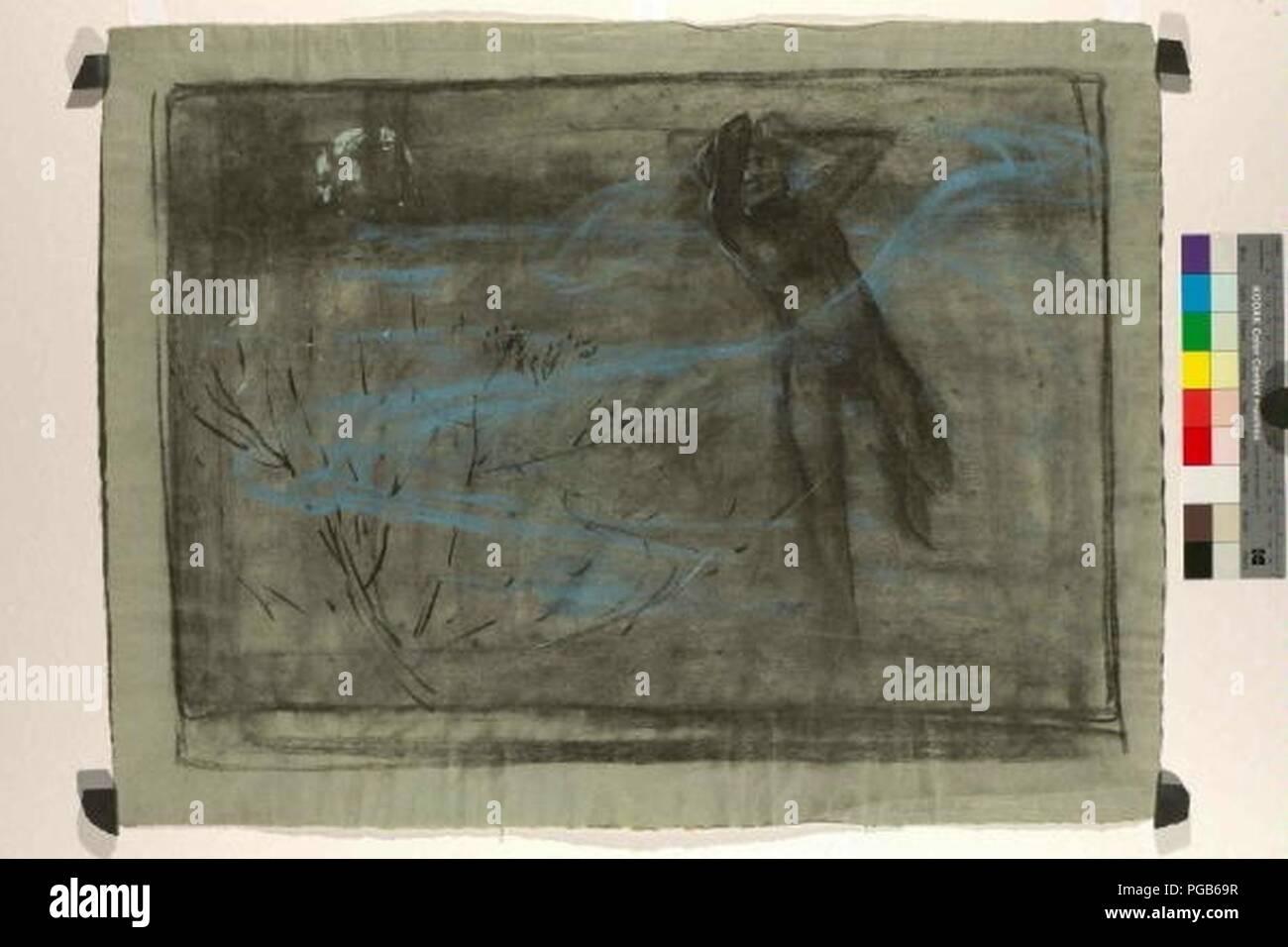 Autor Alfons Mucha 24.7.1860-14.7.1939 - Vyrazova studie Hrich. Foto de stock