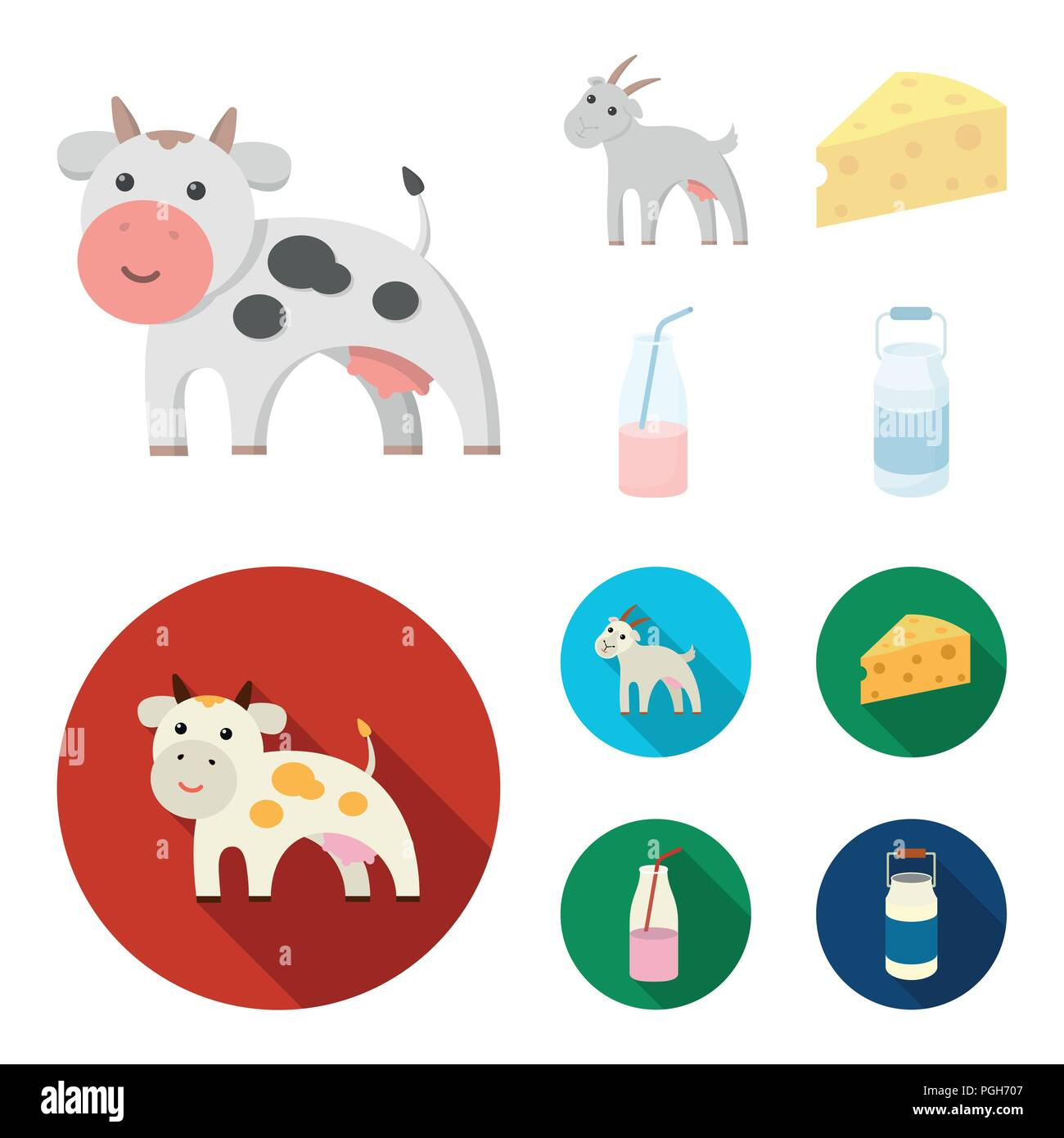 1117da526f4f2 Milk Products Vector Imágenes De Stock   Milk Products Vector Fotos ...