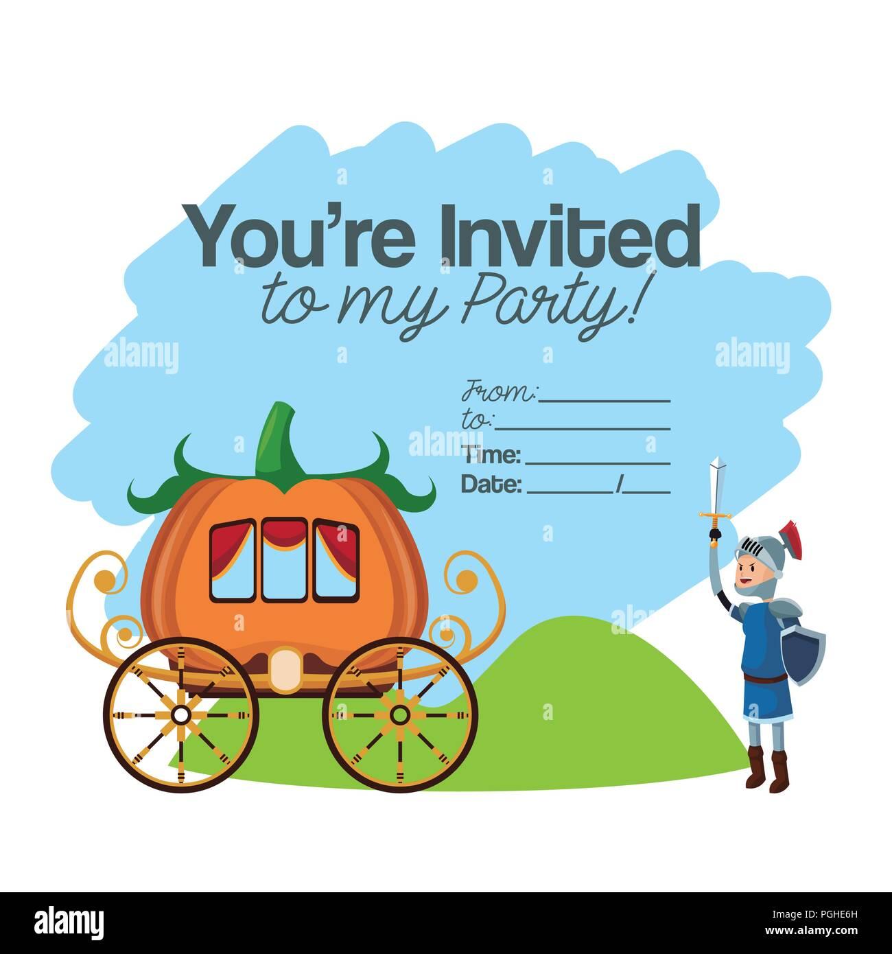 Tarjeta De Invitación A Una Fiesta Infantil De Halloween Con