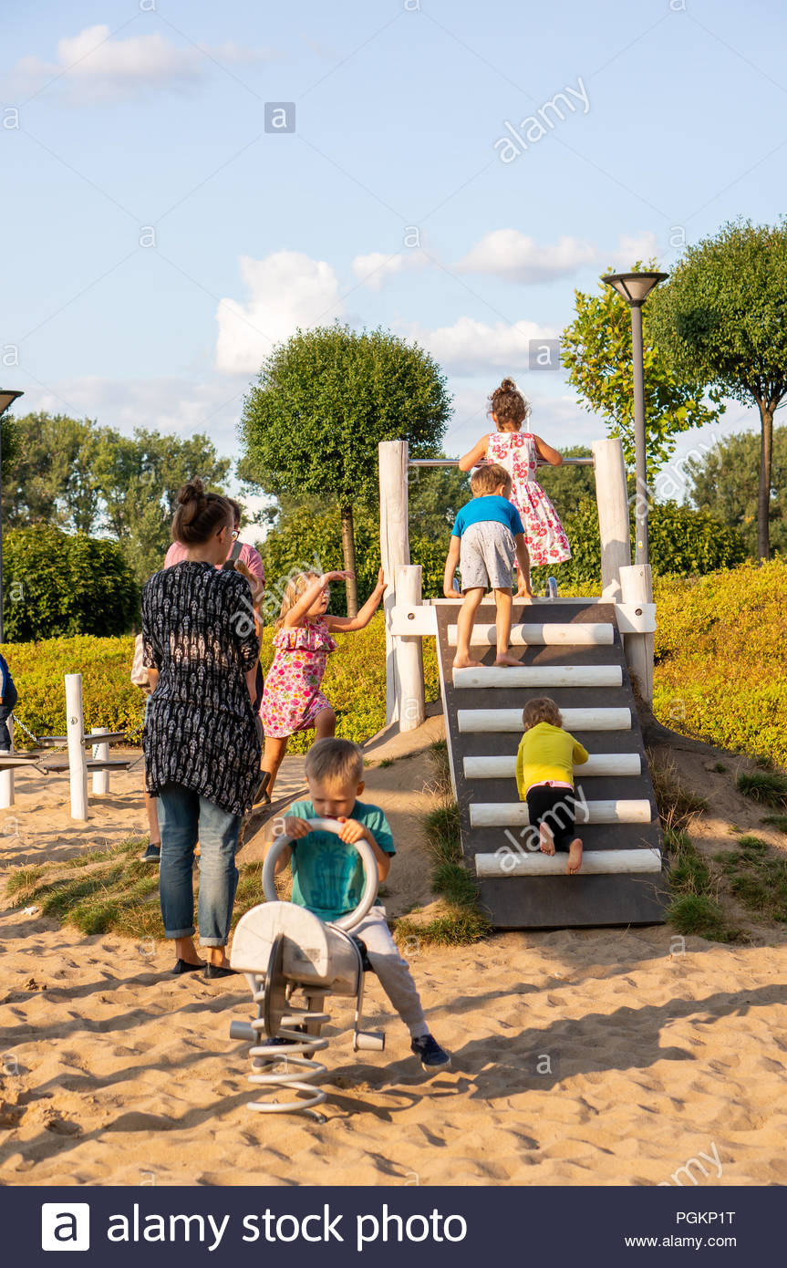Children Climbing Slide Imágenes De Stock & Children Climbing Slide ...