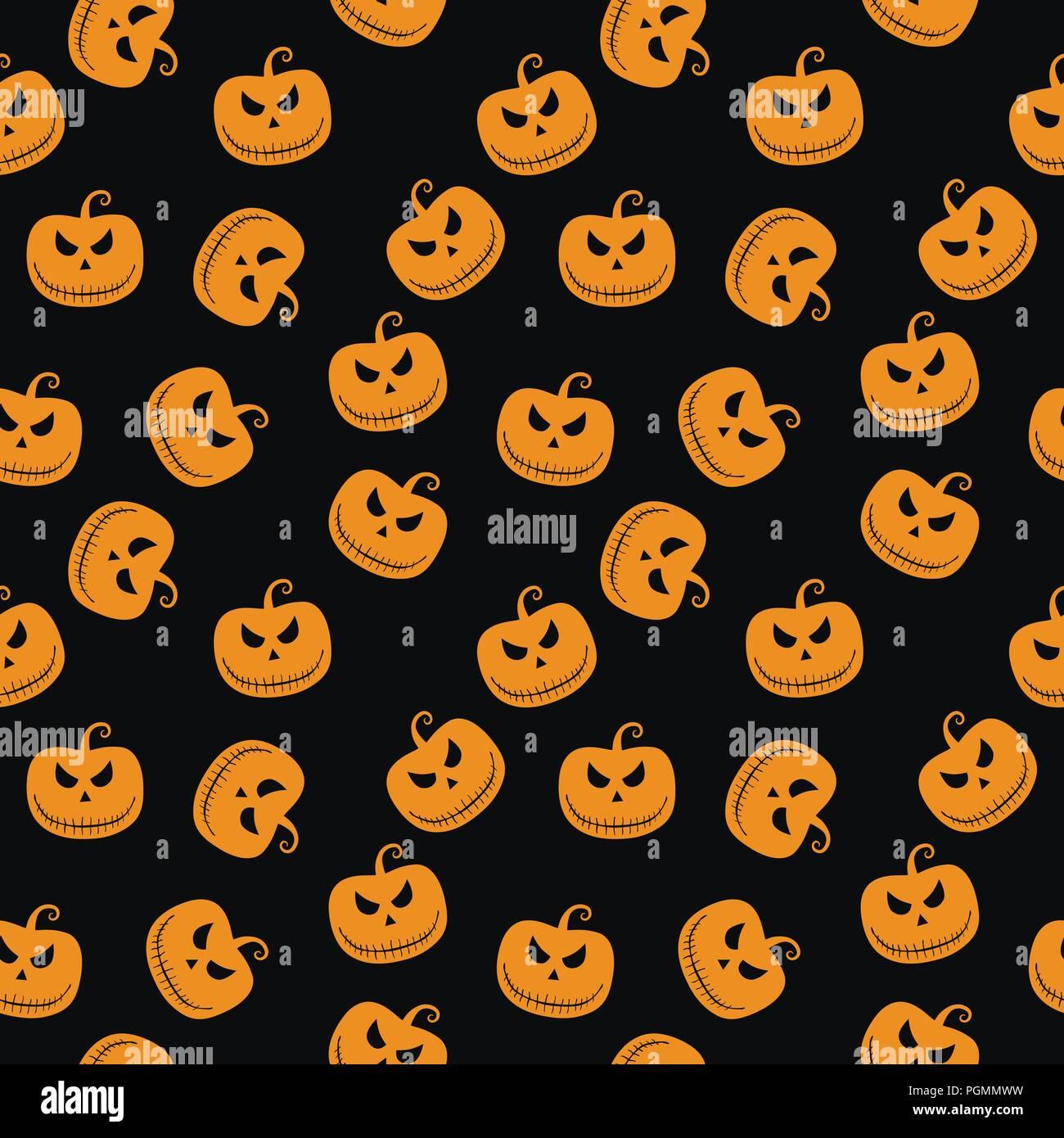 Halloween patr n sin fisuras con scary stare calabaza for Papel tapiz de patron para el pasillo