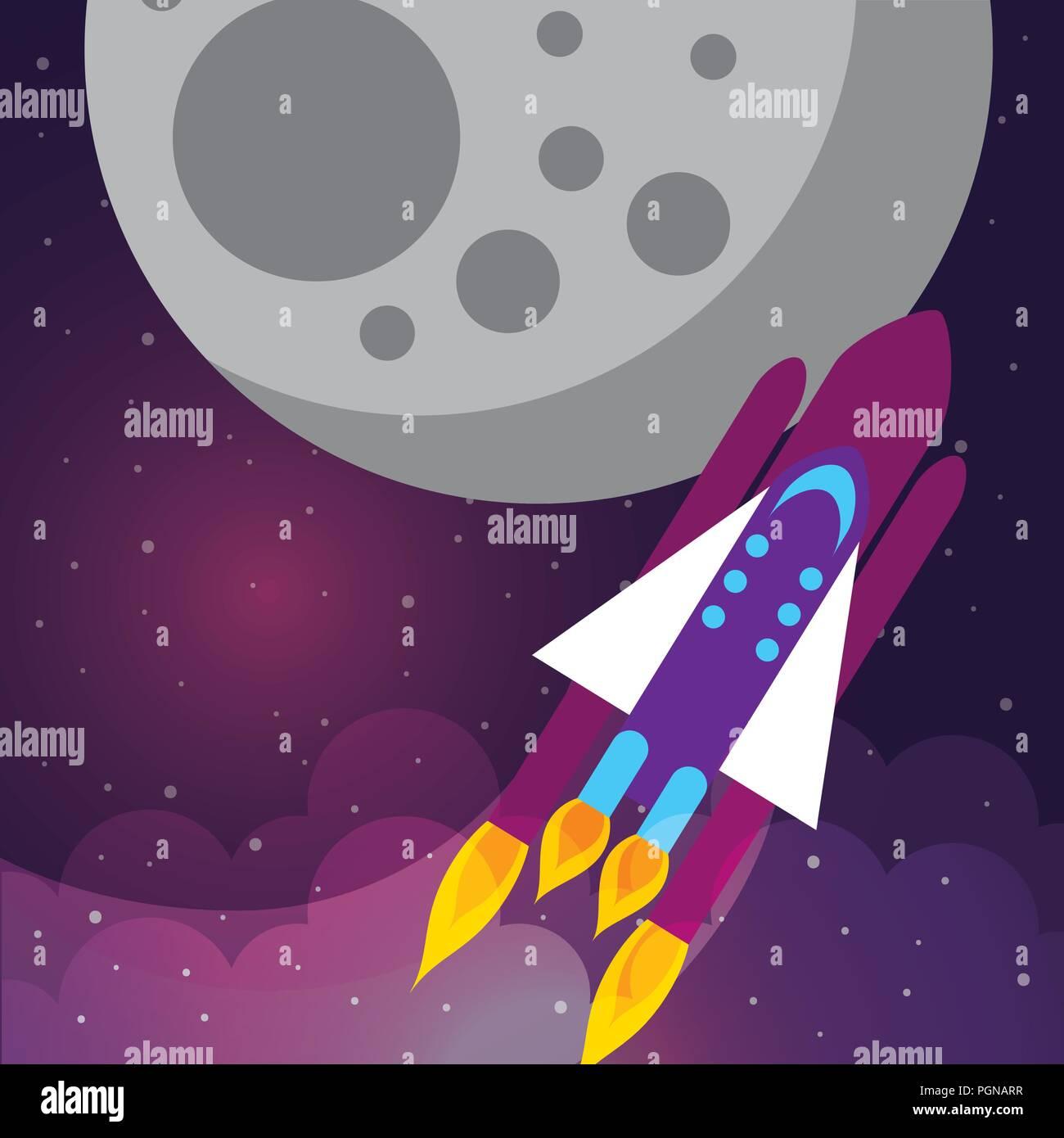 Concepto de sistema solar espacial Imagen De Stock