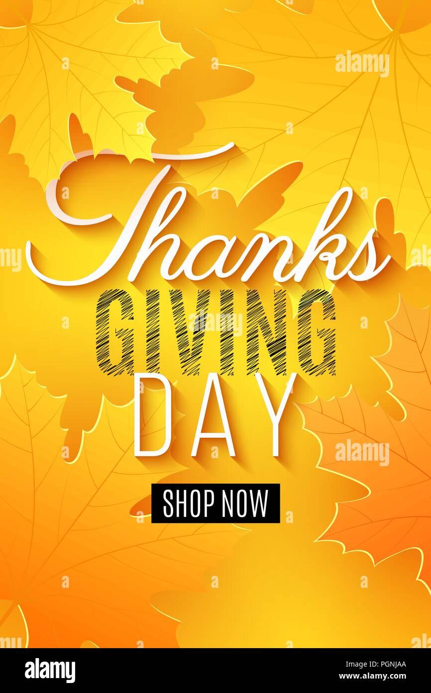 Feliz Día De Acción De Gracias Cartel Para La Venta Tarjeta De