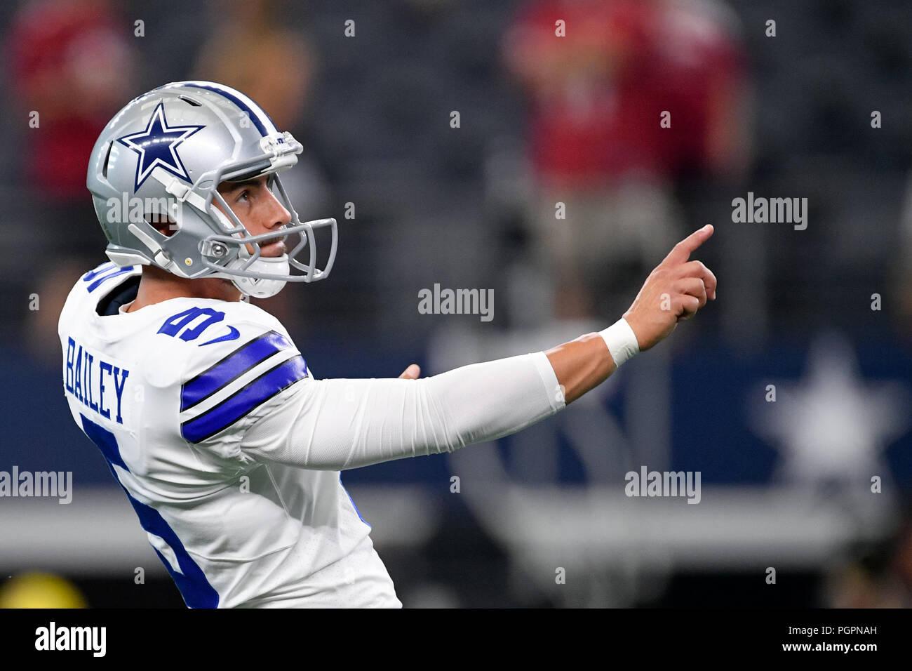 Agosto 26 2018 Dallas Cowboys Lugar Kicker Dan Bailey 5 Antes De