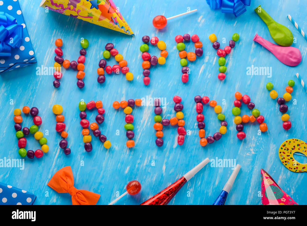 Feliz cumpleaños a firmar, creatividad Imagen De Stock