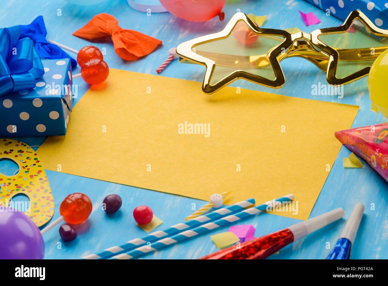 Para personalizar la tarjeta brillante Imagen De Stock