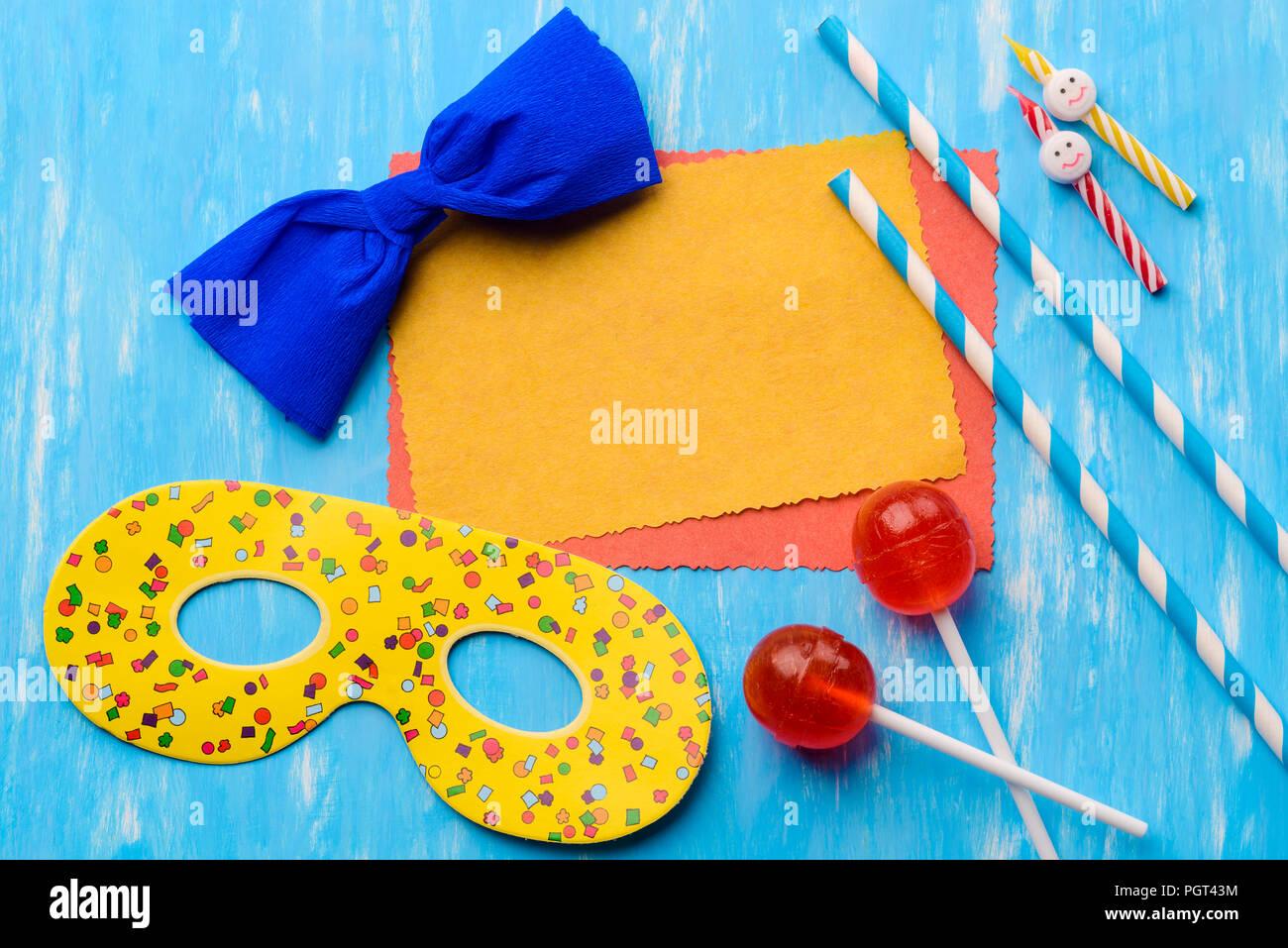 Invitación a fiesta de cumpleaños inolvidable plantilla Imagen De Stock