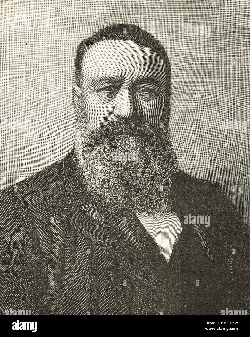 Petrus Jacobus Joubert, mejor conocido como Piet Joubert, Commandant-General de la República de Sudáfrica desde 1880 a 1900 Foto de stock