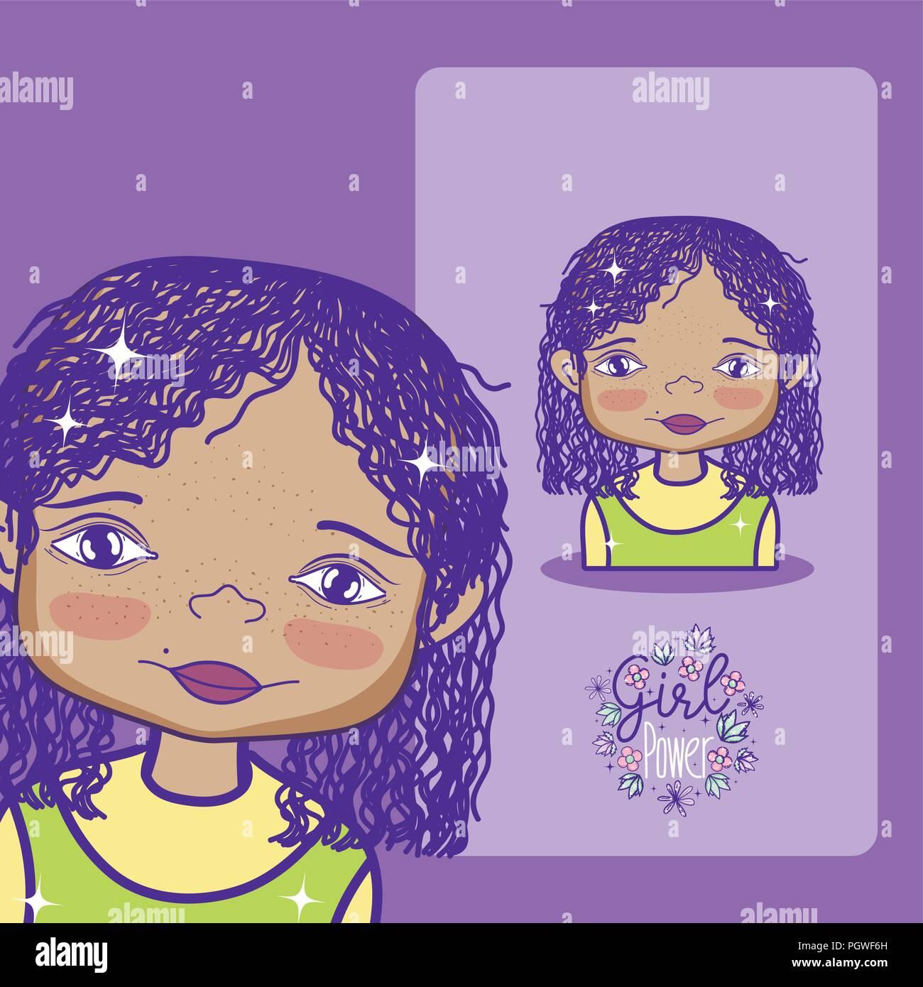 Girl Power cartoon Imagen De Stock