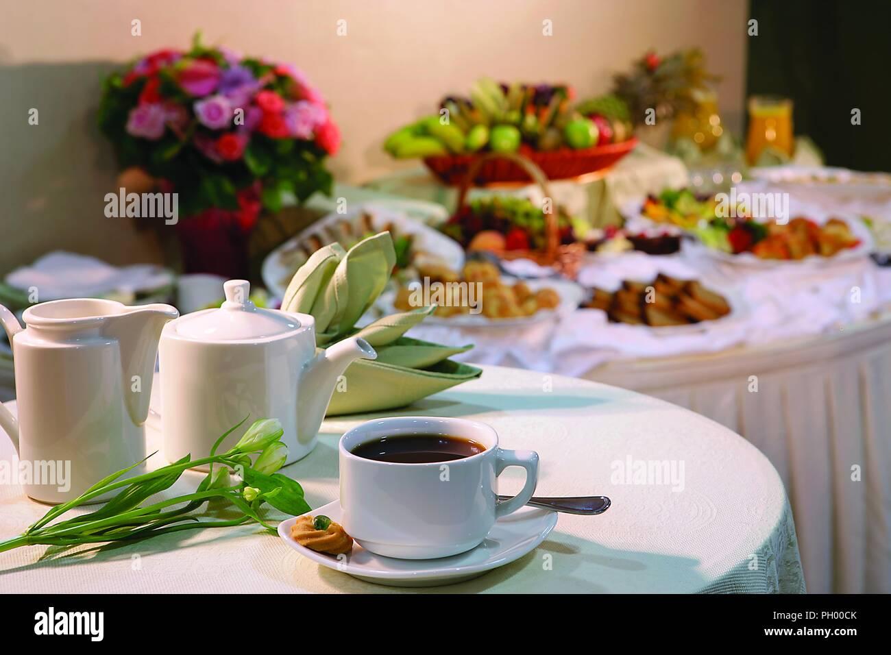 Beber café - Desayuno Imagen De Stock