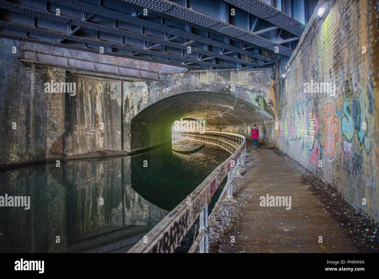 El túnel del canal de la calle Curzon, Birmingham Imagen De Stock