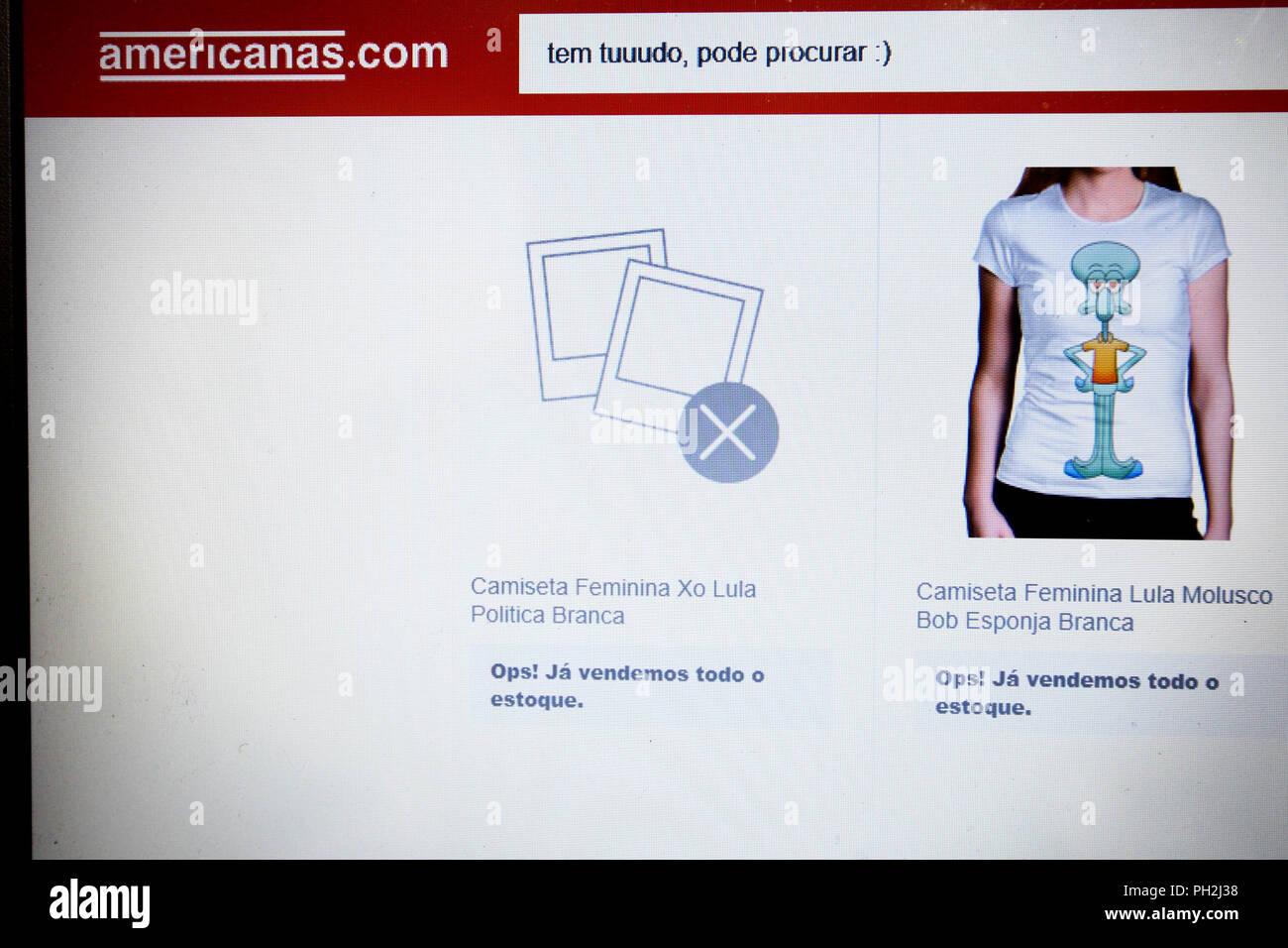 São Paulo Sp 3082018 Americanas Vendôme Camiseta