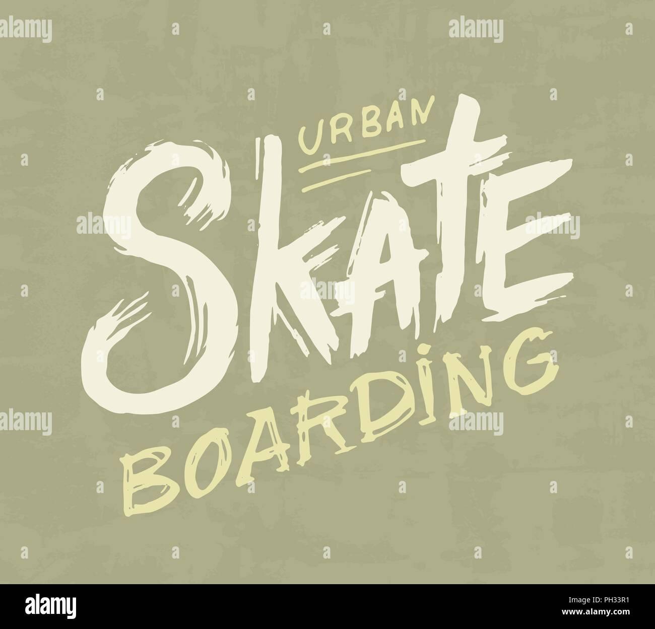 Skateboarding Etiqueta Diseño Urbano Para El Patinador