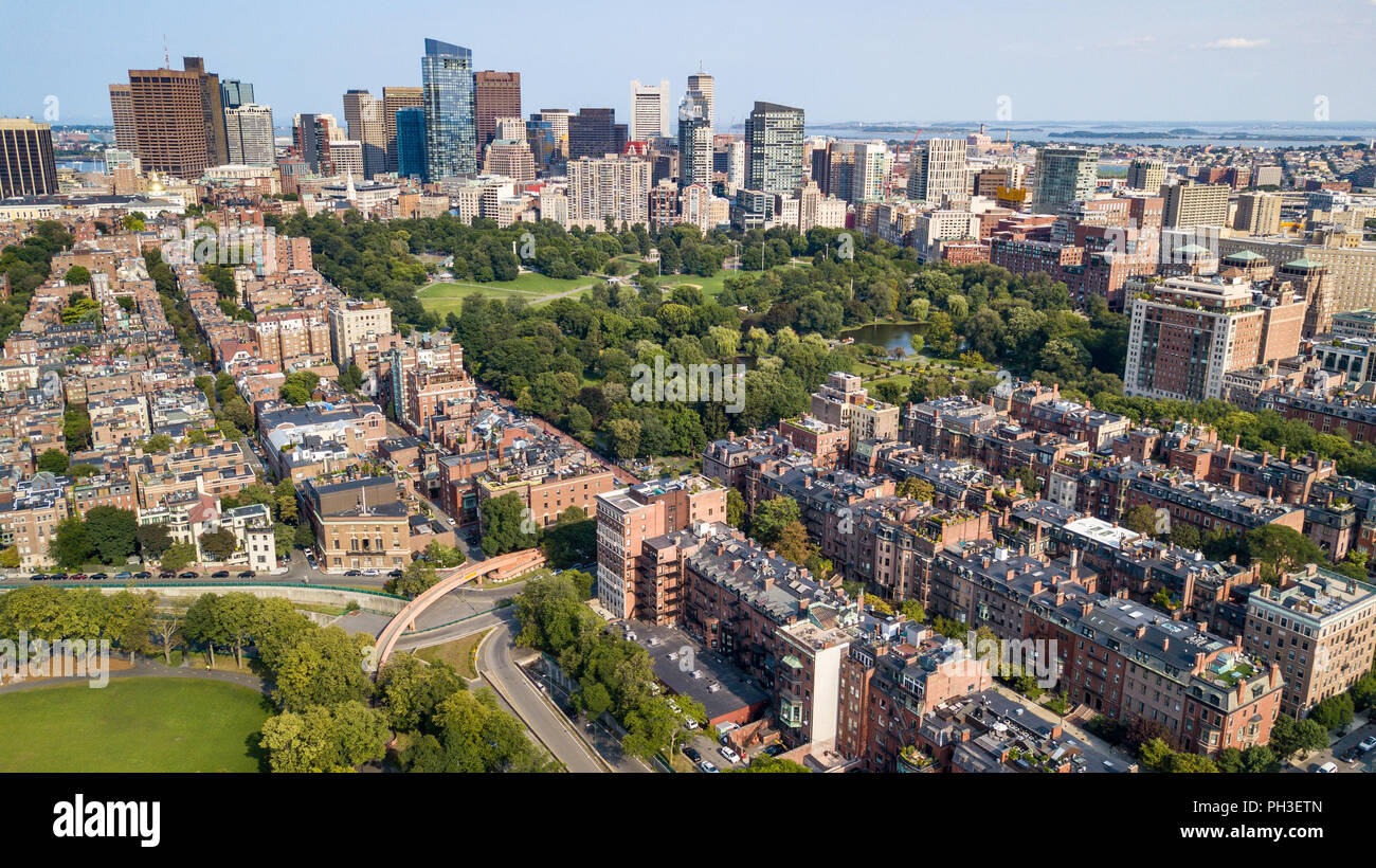 Horizonte de Boston, Boston, MA, EE.UU. Imagen De Stock