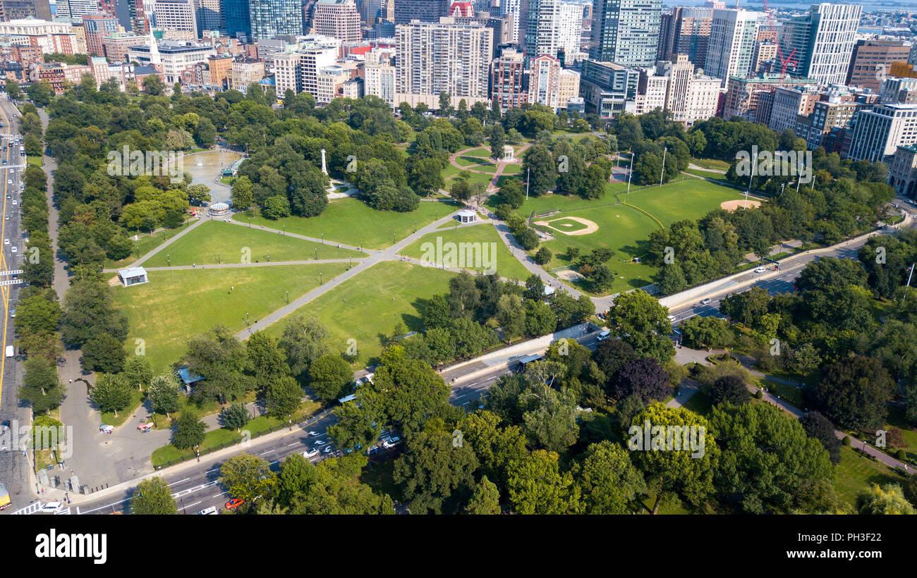Boston Common, Boston, MA, EE.UU. Imagen De Stock